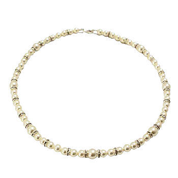 Pristine Pearl And Diamante Bridal Necklace
