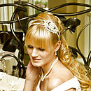 Julie Diamante Side Tiara