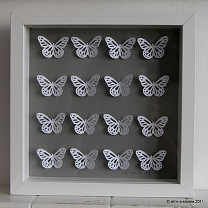 Personalised Captured Butterflies Framed