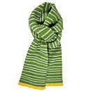 Green with Pale Grey stripe and yellow trim