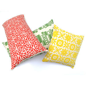 Moroccan Tile Slim Cushion - patterned cushions
