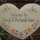 Personalised Welcome Heart
