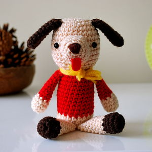 Bob The Handmade Amigurumi Dog - soft toys & dolls