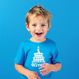 Personalised Birthday Cake T Shirt - for under 5's
