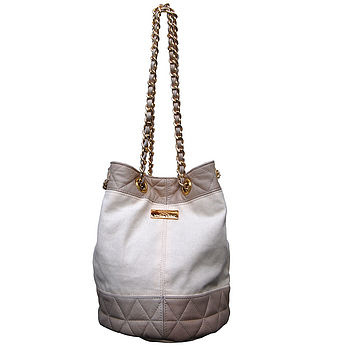 Cream Canvas Slouch Bag