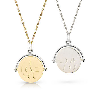 Spinning 'I Love You' Pendant