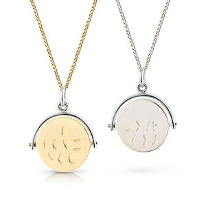 Spinning 'I Love You' Pendant - gifts for her