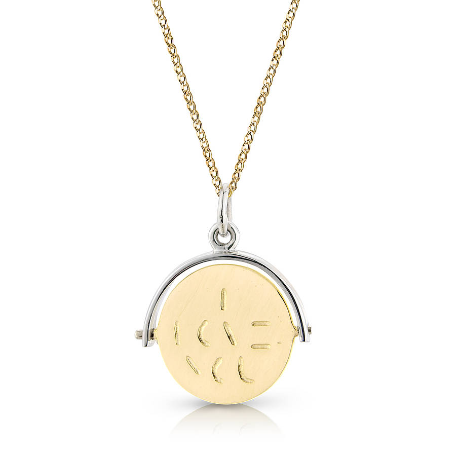 Spinning i love you pendant by argent of london gold silver i love you pendant mozeypictures Images