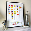 Happy Birthday Signal Flags Print