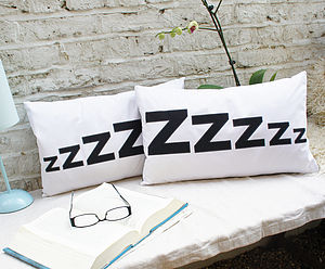 Pair Of 'Zzzzz' Cushion Covers
