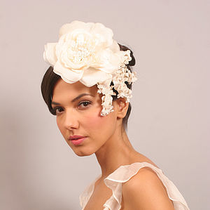 Bridal Chiffon And Velvet Rose Hair Piece