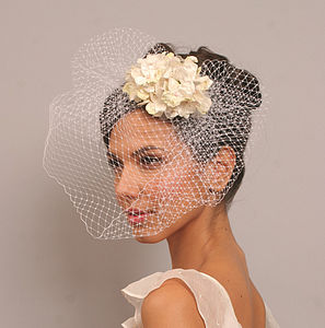 Vintage Style Bridal Flower Hair Comb - bridal hairpieces