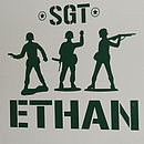 Wall Stickers Personalised Army Men