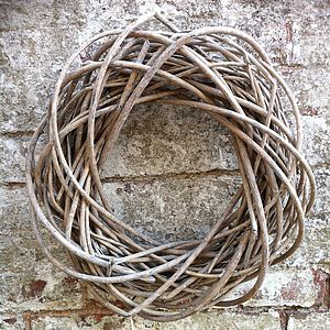Willow Wreath In Grey Wash Or White