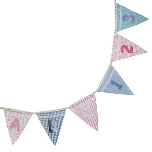 Alphabet Bunting - outdoor decorations