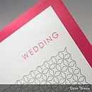 Letterpress Wedding Stationery - Handprinted