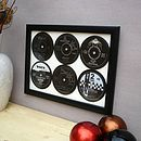 Bespoke Set Of Six Framed 45s Records