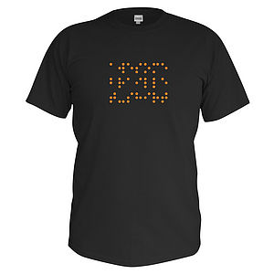 Children's Personalised Braille T Shirt