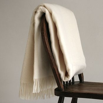 Natural Cream Pure Wool Throw