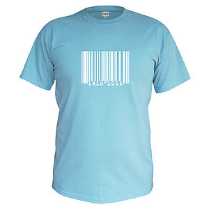 Children's Personalised Barcode T Shirt - clothing