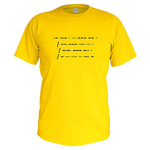 Children's Personalised Morse Code T Shirt