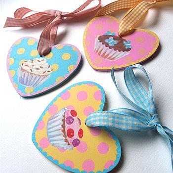 Personalised Cupcake Heart