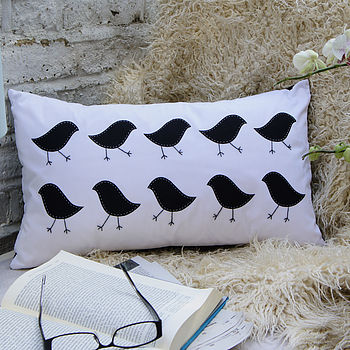 Marching Birdies Cushion Cover