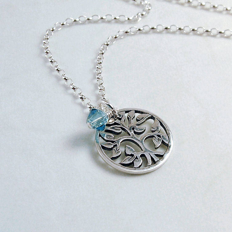 Tree of life sterling silver necklace by wished for tree of life sterling silver necklace mozeypictures Gallery