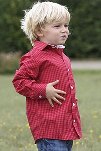 Boy's Red Check Shirt - christmas party wear for children