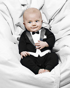 The Tuxedo Babygrow - new baby gifts