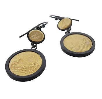 Giraffe Photo Drop Earrings