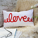 Love - Red - Comment Cushion - 50x30