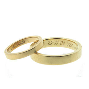 Personalised Gold Flat Band Ring - jewellery