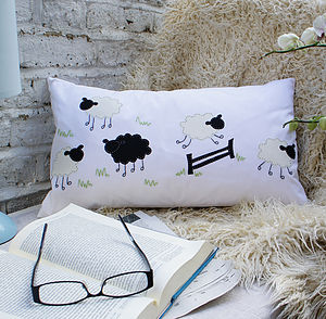 Counting Sheep Cushion Cover - children's room