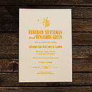 Floral Vintage Wedding Invitation in Sunflower Yellow