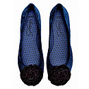 Midnight Velvet Ballerina Shoes *RRP £45*