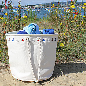 Big 'Yacht' Canvas Beach Bag
