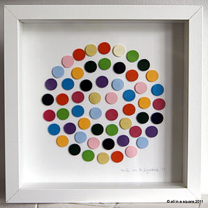 Personalised Vibrant Dotty Framed Picture - baby's room