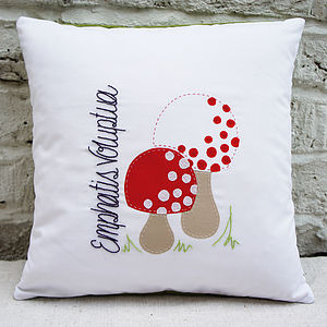 Made Up Mushrooms Cushion Cover - bedroom