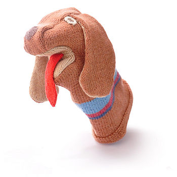 Organic Cotton Dog Hand Puppet