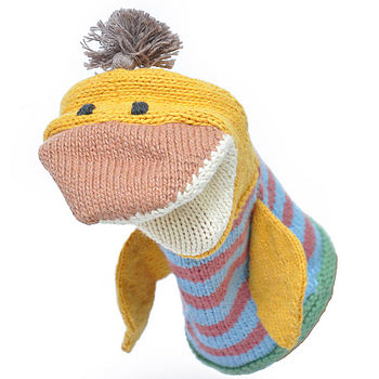 Organic Cotton Duck Hand Puppet
