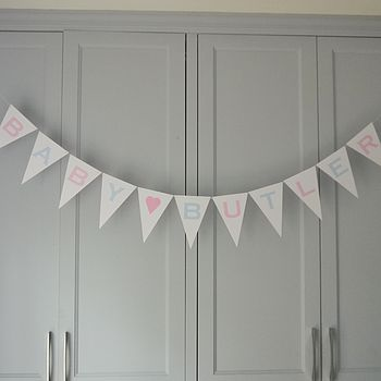 Personalised New Baby Bunting