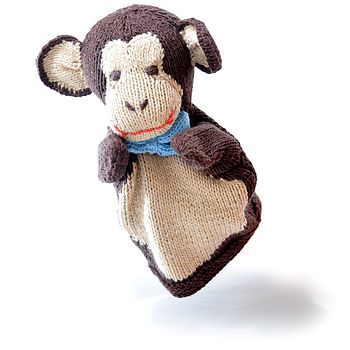 Organic Cotton Monkey Hand Puppet