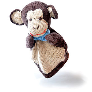 Organic Cotton Monkey Hand Puppet - soft toys & dolls
