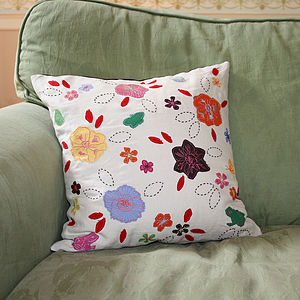 Wildlife Garden Cushion - embroidered cushions