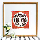 Burnt Orange Joy Print Framed