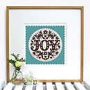 Sage Green Joy Print Framed
