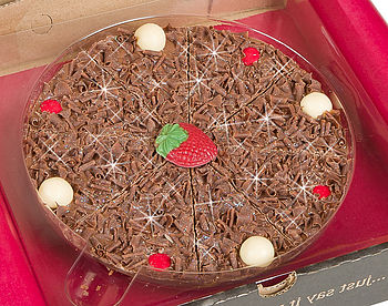 Strawberry & Champagne Chocolate Pizza