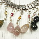 Tourmaline And Silver Necklace
