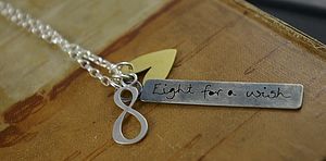 Personalised Eight For A Wish Necklace